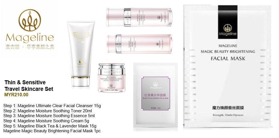 Mageline Sensitive Skincare Travel Set