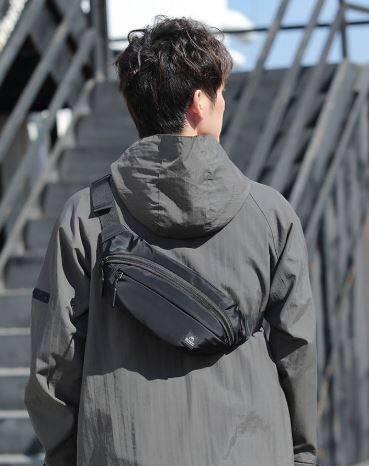 (READY STOCK) New Werocker Waist Bag Diagonal Crossbody Bag (Black) leisure sports chest bag shine nylon waterproof Antitheft