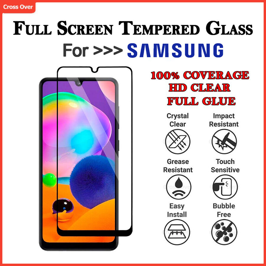 SAMSUNG A10 A20 A30 A50 A70 A80 A10S A20S A30S A50S A01 A11 A21S A31 A51 A71  Full Screen Protector Tempered Glass HD Clear