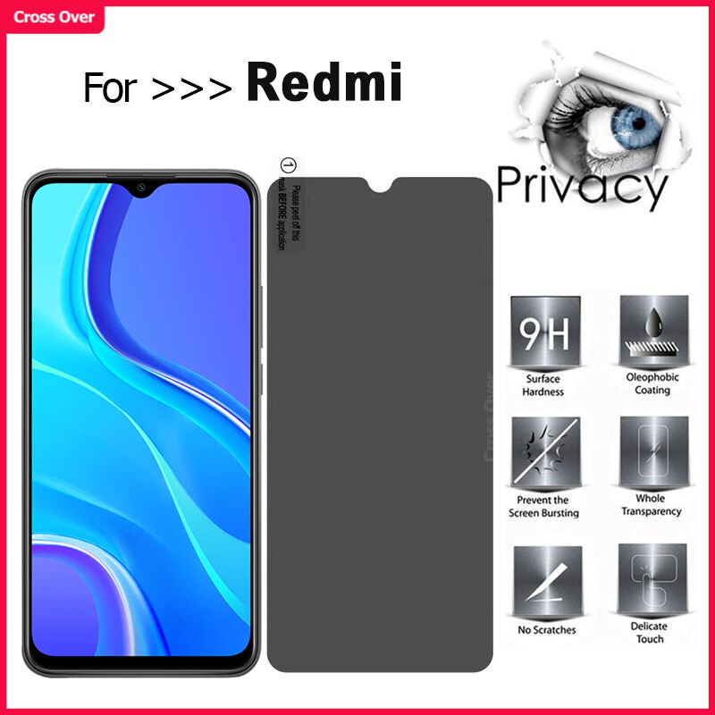 Redmi Note7 8 Note8 8A Note8 pro 9 9a 9c note9 note9s note9pro Privacy Tempered Glass Anti-Spy screen protecter