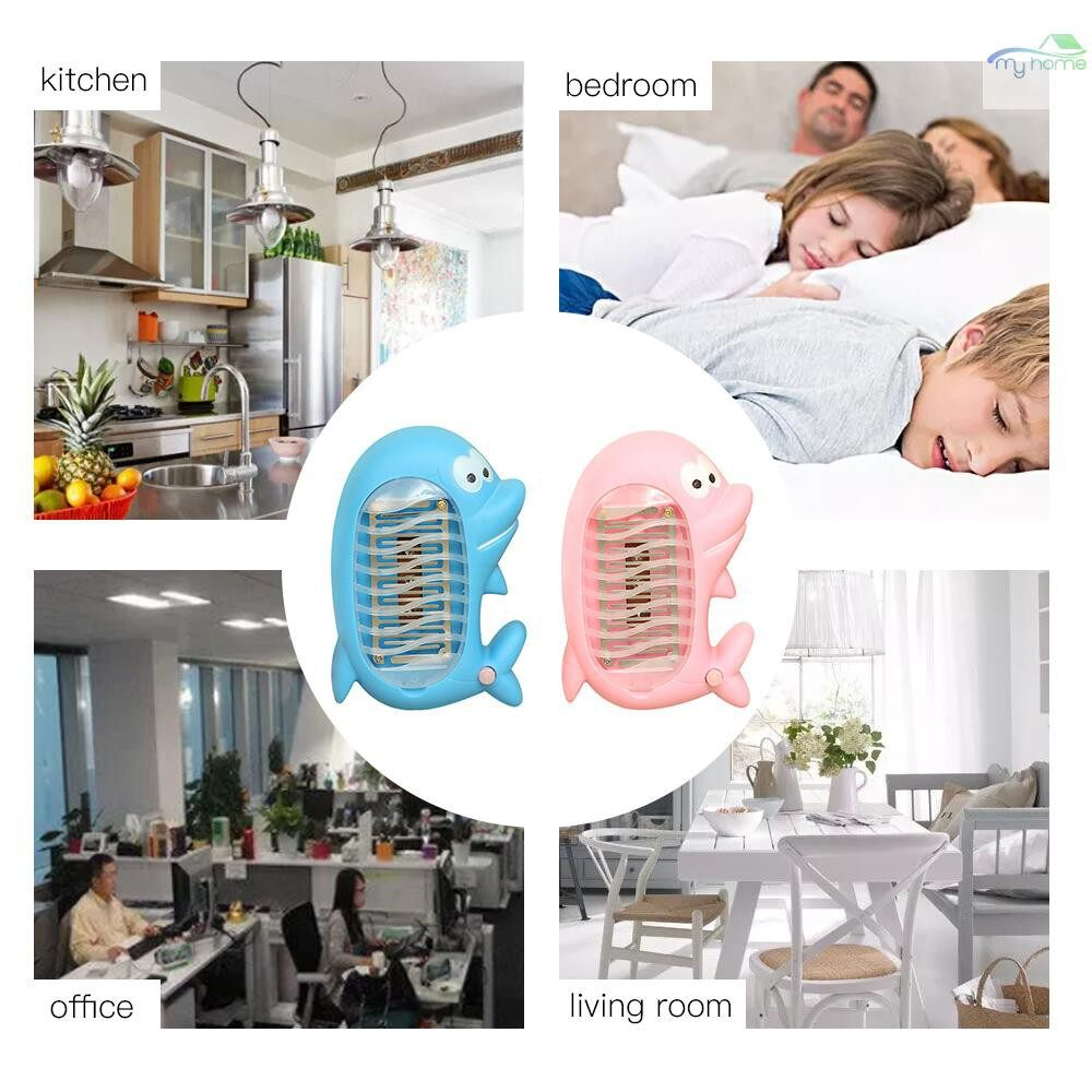 Lighting Fixtures & Components - MINI Electronic Cartoon Dolphin LED Mosquito Killer Lamp Insect Fly Bug Zapper Night Lamp Killer - #