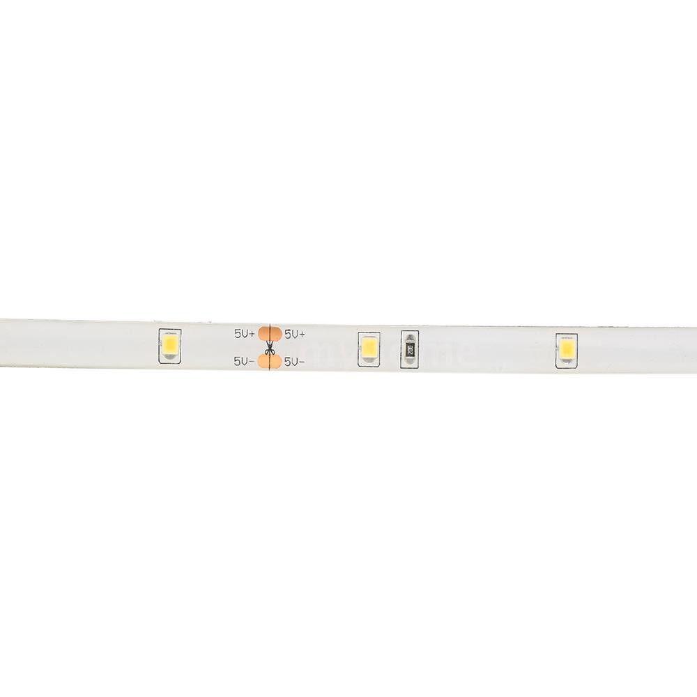 Lighting - 1M 30LEDs Cabinet Strips Lights USB Rechargeable PIR Motion Sensor & Light Sensor Underbed String - WHITE