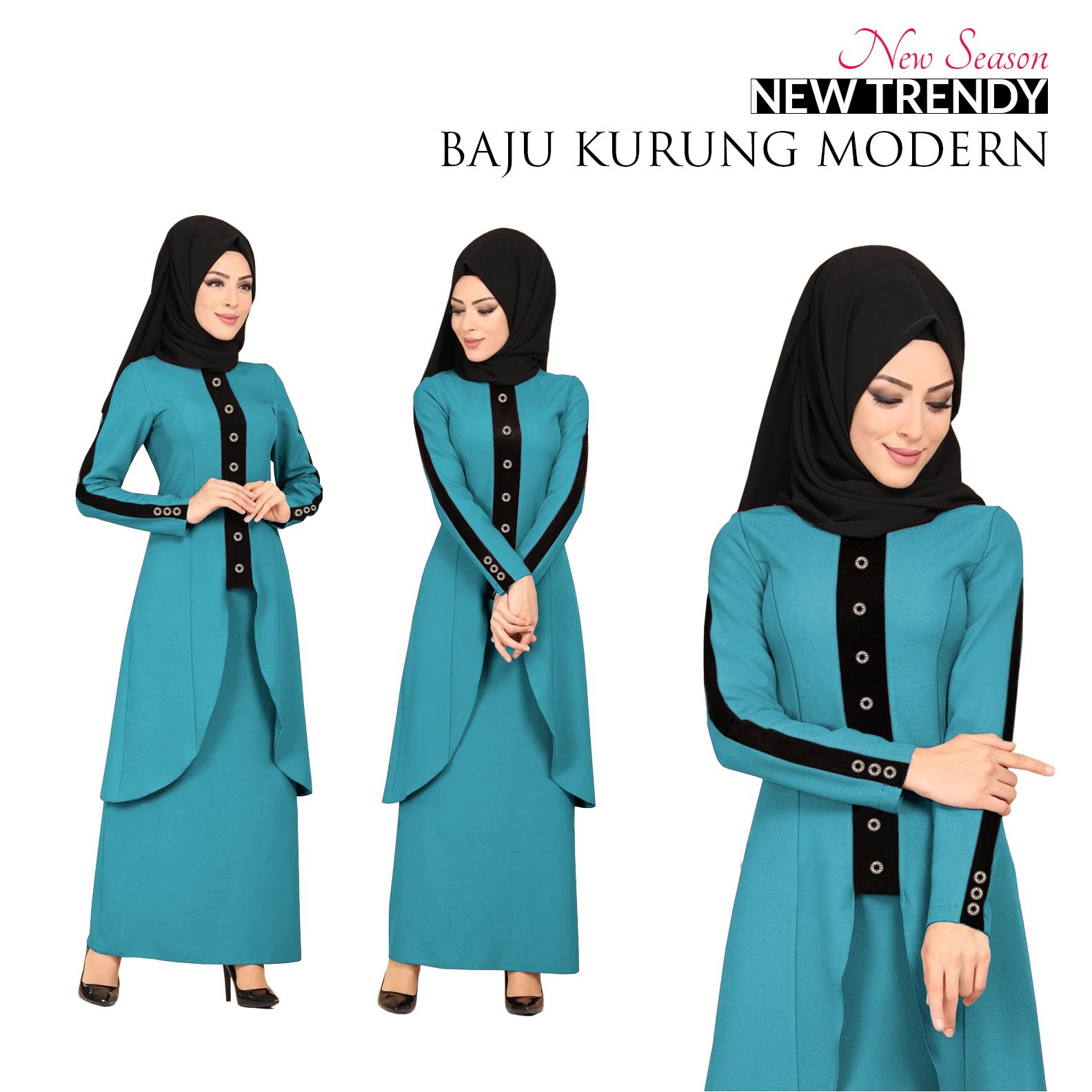New Collection New Season Trendy Baju Kurung Modern for Muslimah Terbaik