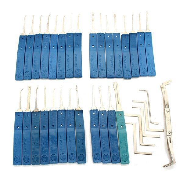 Cool Gadgets - Practical 34in1 Multi-function Lockpick SET Unlocking Tool LDB - Mobile & Accessories