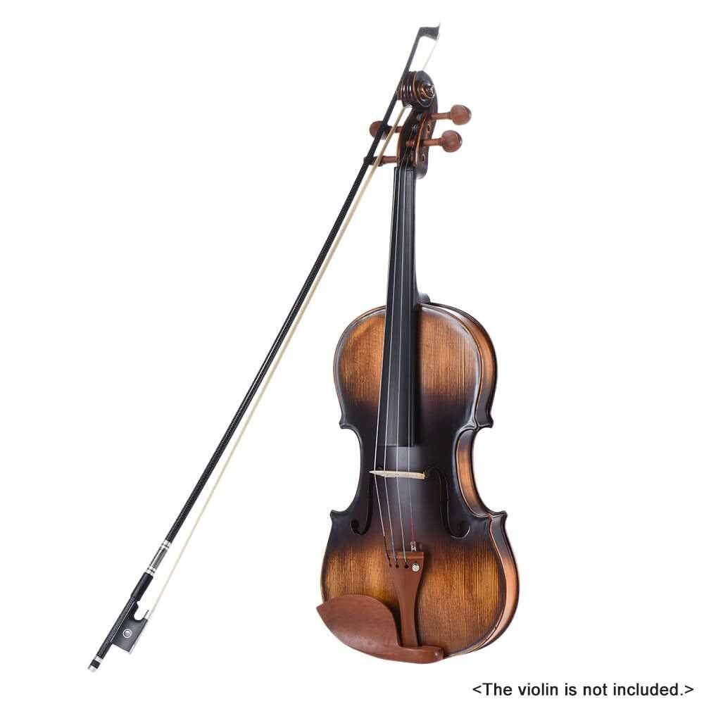 Well Balanced Braided Carbon Fiber Violin Fiddle Bow Round Stick Exquisite Horsehair Ebony Frog