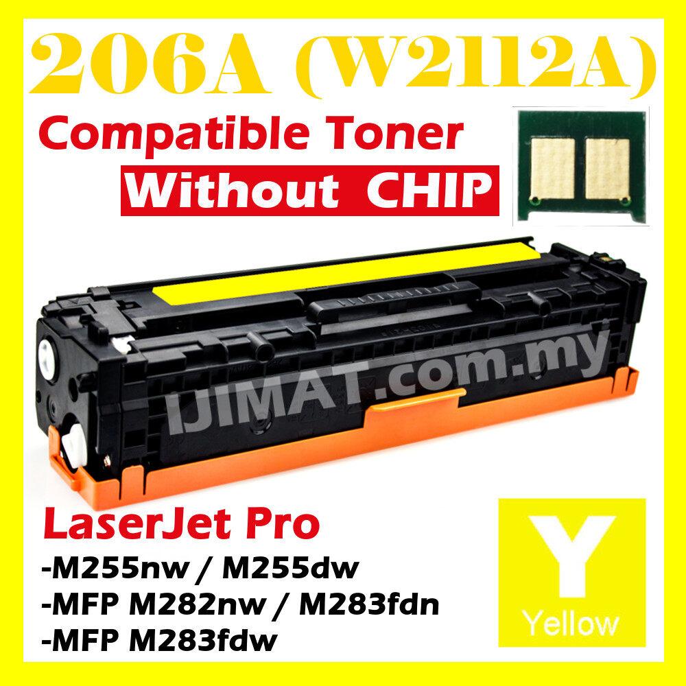 YELLOW 206A W2110A W2111A W2112A W2113A Compatible With HP Color Laserjet Pro M255 M282 M283 MFP M282nw / MFP M283fdw / MFP M283fdn / M255dw / M255nw Printer Ink