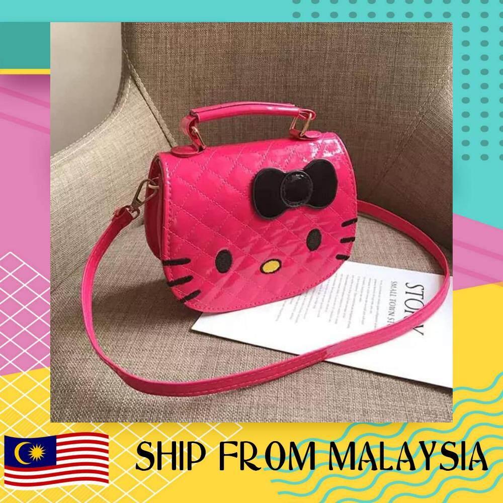 2019 NEW CHILDREN SMALL BAG FASHION WILD GIRL BABY DIAGONAL BAG SHOULDER BAG TIDE HELLO KITTY MALAYSIA