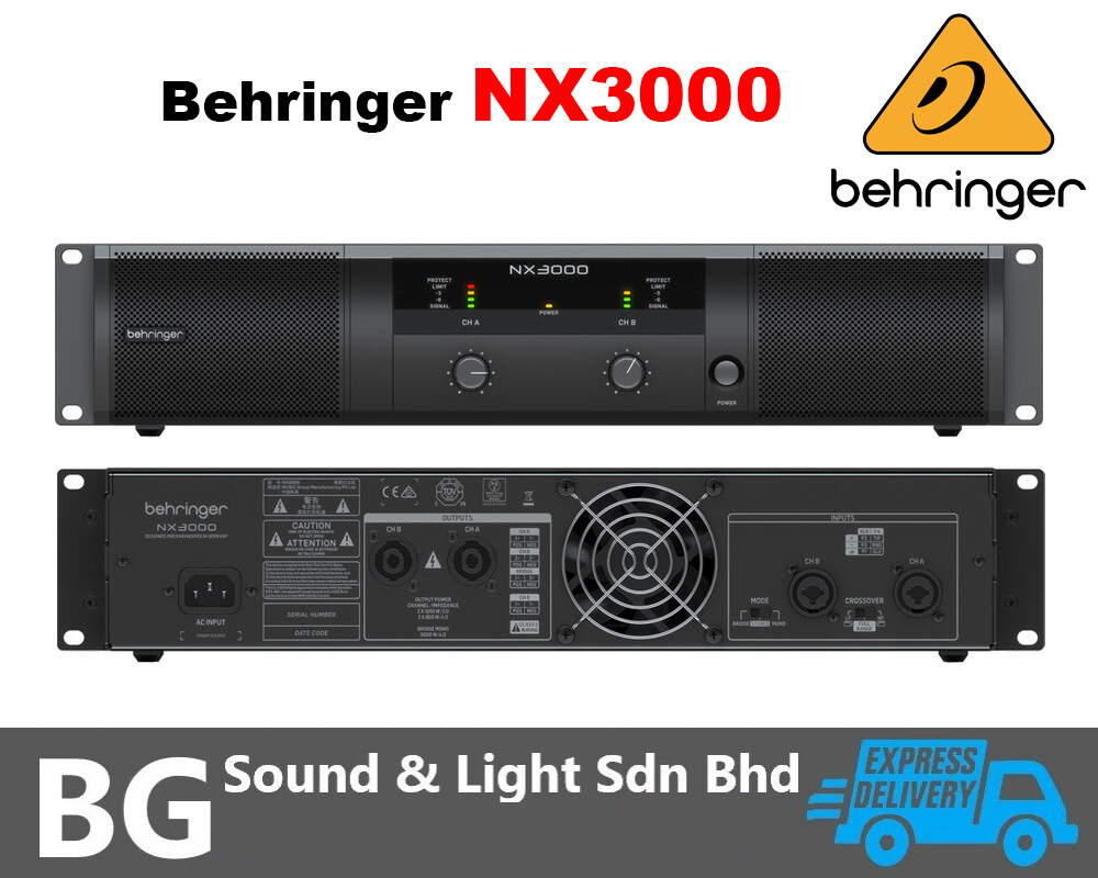 [SHIP OUT EVERYDAY]Behringer NX3000 Ultra-Lightweight High-Density Class-D Stereo Power Amplifier 440W/Channel at 8 Ohms