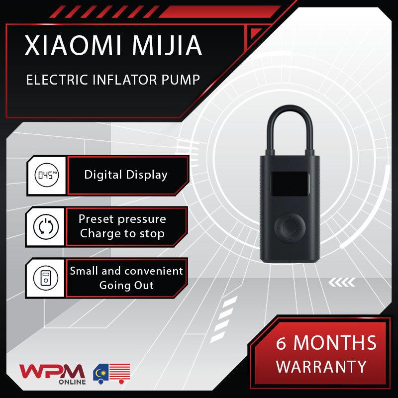 [READY STOCK] Xiaomi Mijia Inflator Pump Portable Mini LED Smart Digital Tire Pressure Sensor Electric For Bicycle Motorcycle Car Ball