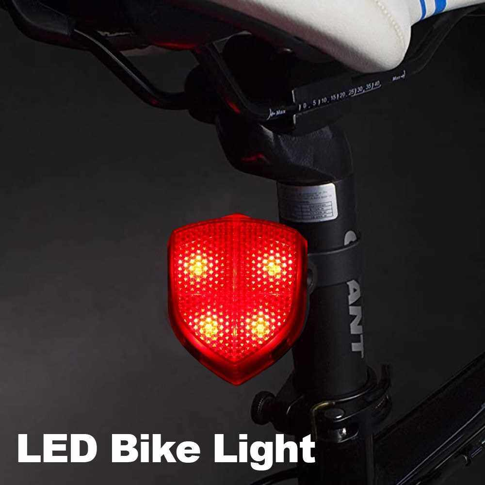 People's Choice LED Bike Tail Light Bicycle Rear Lights Rear Safety Cycling Light for Bicycles, Camping, Backpacks, Hiking (Red)