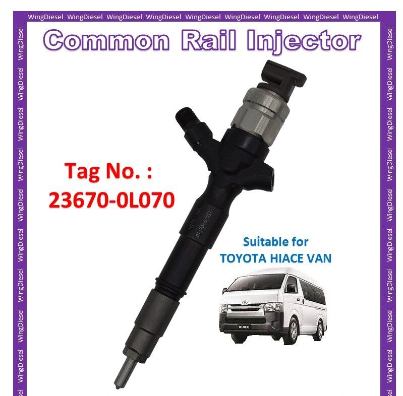 Toyota Hiace Van & Toyota Hilux Vego 2.5 (G2) Diesel Fuel Pump Common Rail Injector 100% New