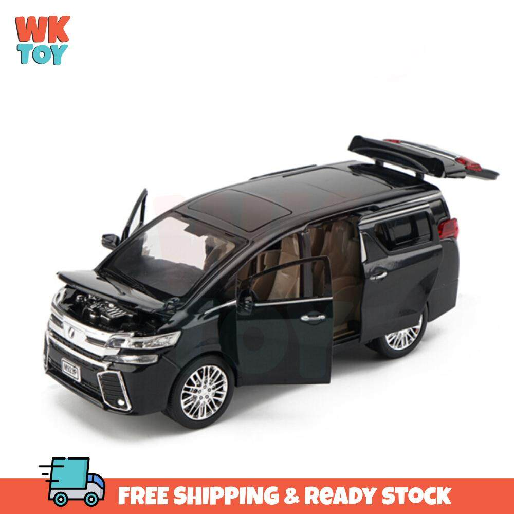 WK XLG Toyota Vellfire High Simulation 1:24 Alloy Die Cast Model with Light & Sound and Pull Back Power