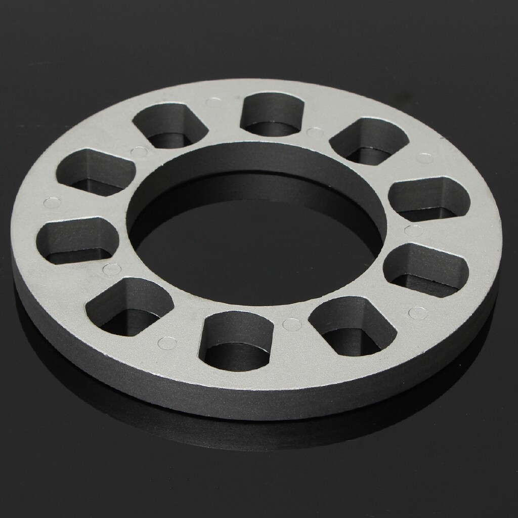 Automotive Tools & Equipment - Universal Car Auto Aluminum Alloy Wheel Spacer Gasket 5 hole 0.51'' Thickness - Car Replacement Parts
