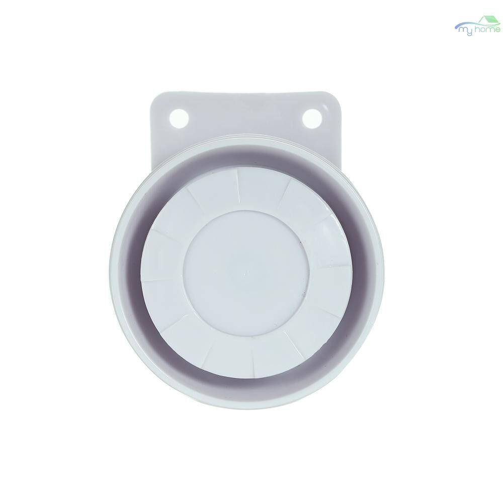 Sensors & Alarms - External MINI Wired Siren dB Prompt Alert Alarm for Home Security Alarm System - WHITE