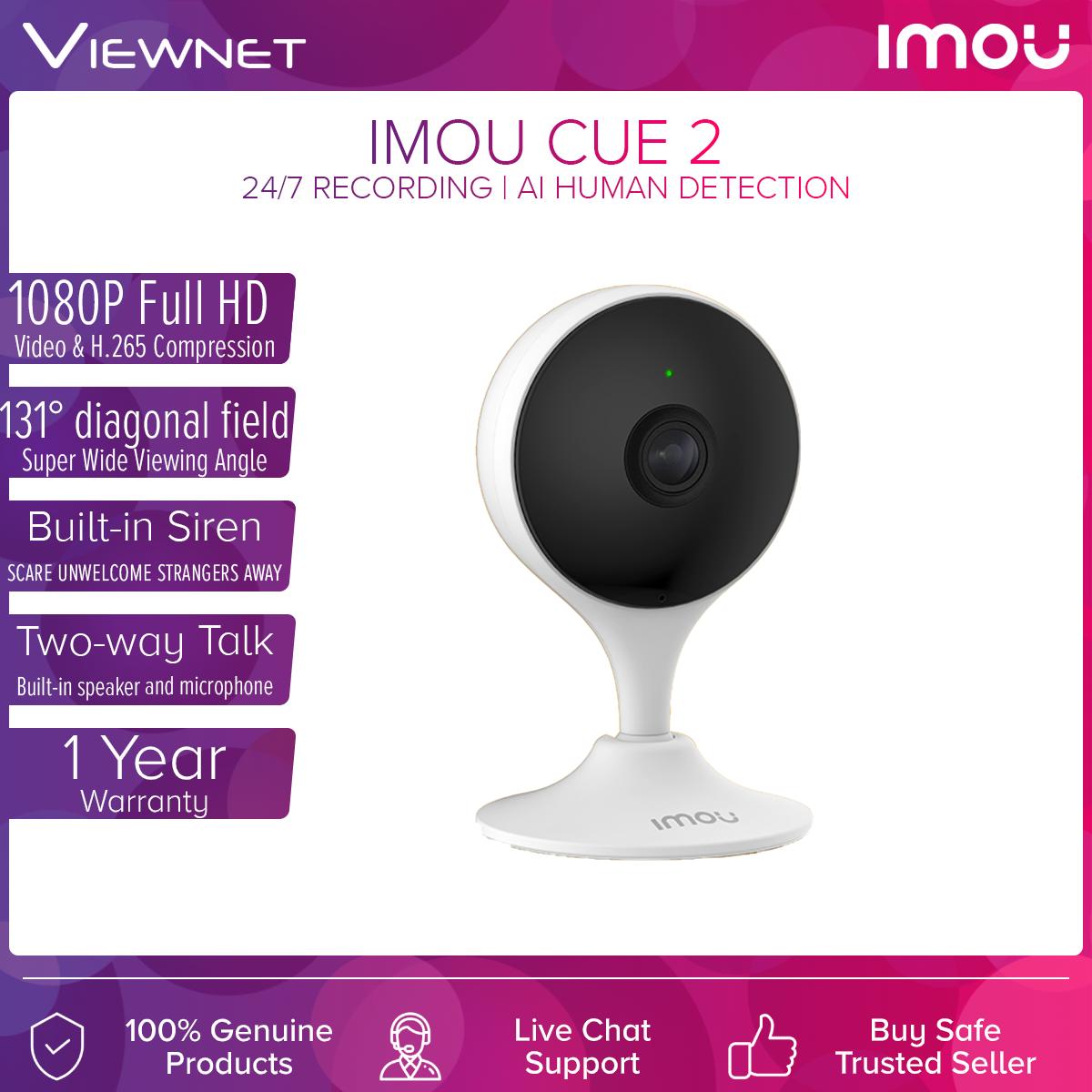 DAHUA IMOU Cue 2c 1080P Full HD Smart Monitoring Cloud Wireless WiFi IP Camera with AI Human Detection (Surveillance CCTV) CUE 2