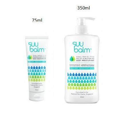 Suu Balm Dual Rapid Itch Relieving & Restoring Body Moisturiser 75ml / 350ml