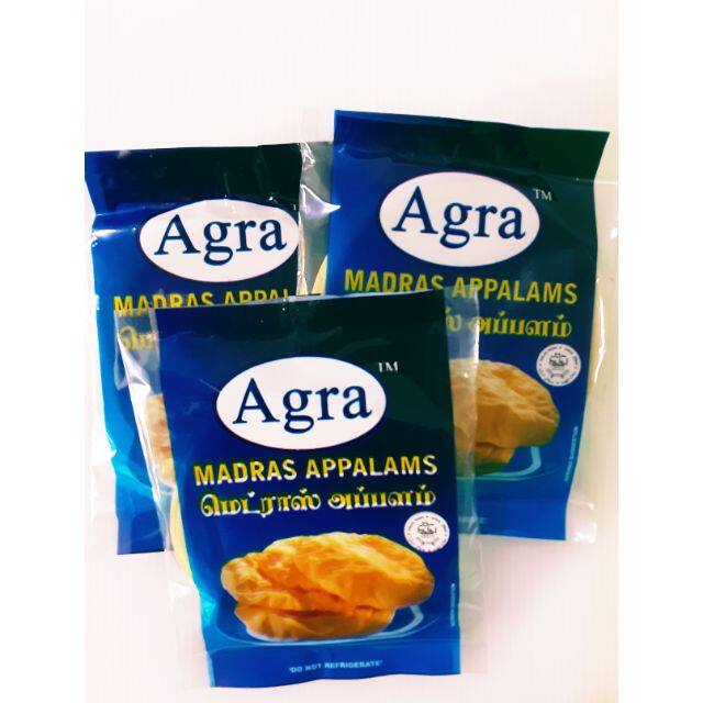 Agra Madras Appalams 100gms