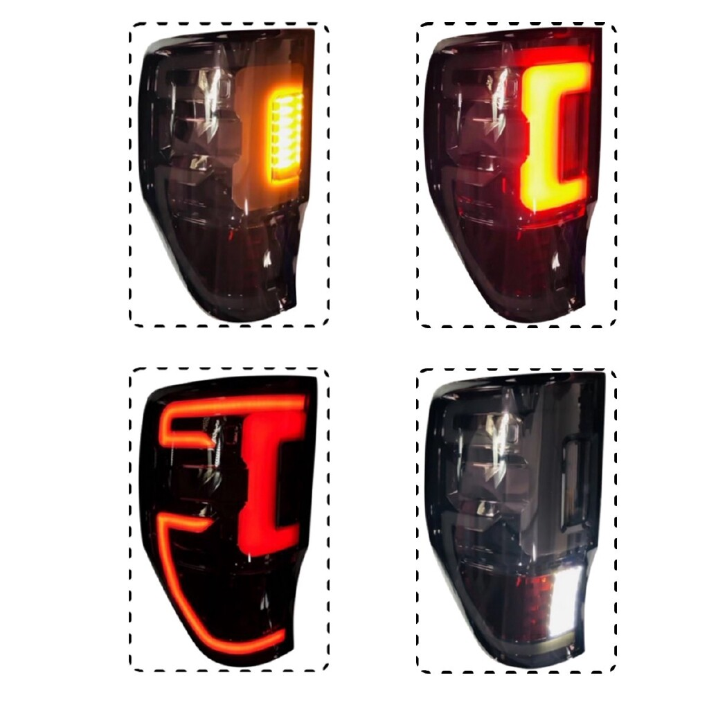 Car Lights - Smoke Rear Tail LED Light Lamp For Ford Ranger Raptor T6 XLT PX UTE 2012- - Replacement Parts
