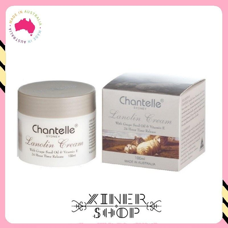 [Pre Order] Chantelle Lanolin Cream with Grape Seed Oil & Vitamin E ( 100ml )(Made In Australia)
