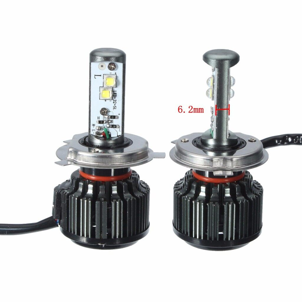Car Lights - Pair 9003/H4 80W 8000LM 6000K High Power Cree LED Xenon White Light - Replacement Parts
