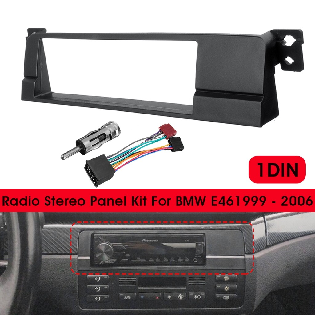 Car Radios - Single Din Radio Stereo Fascia Surround Adaptor Panel Fitting Kit For BMW E46 - Electronics