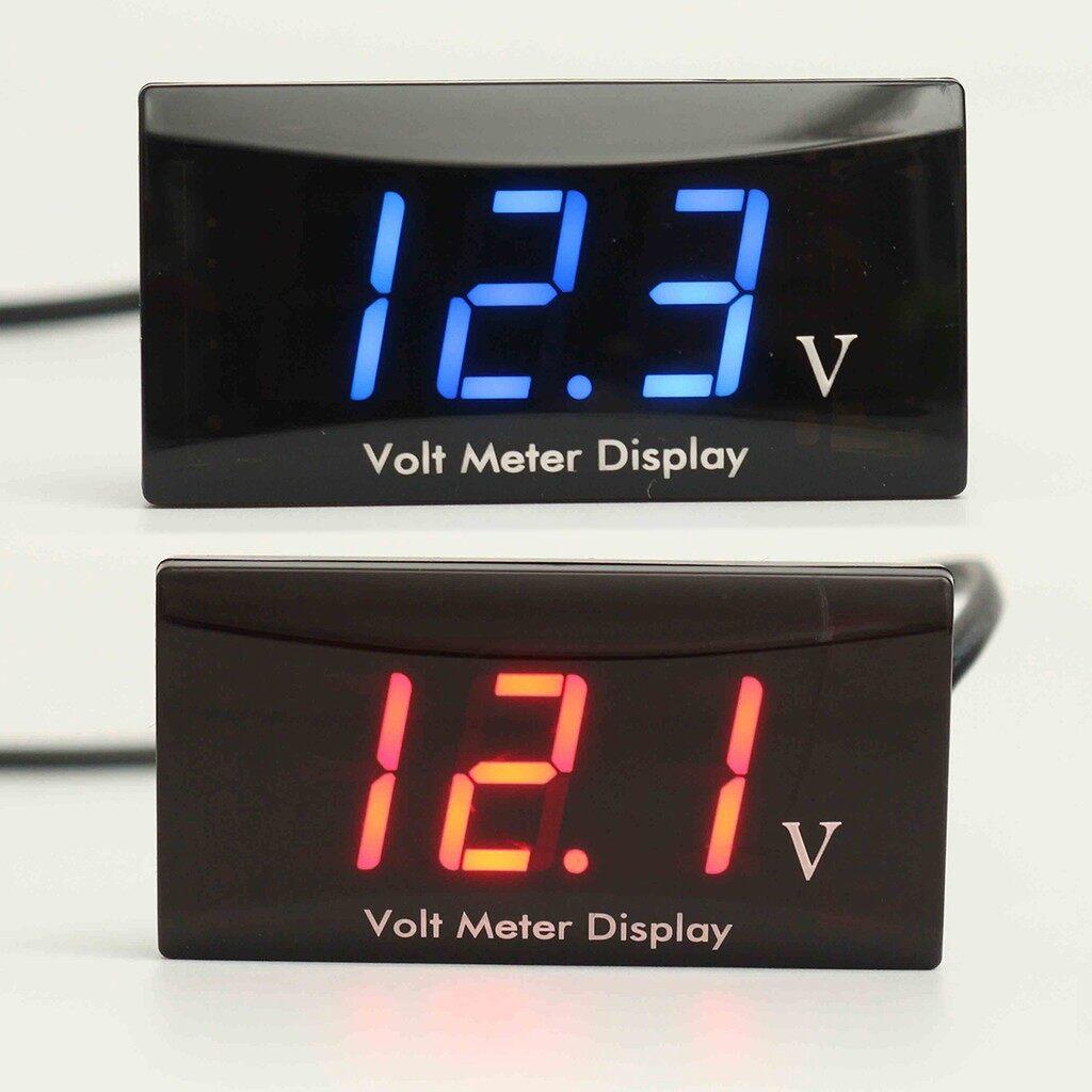 Gadgets - DC 8-16V Blue/Red LED Digital Voltmeter Panel Display Voltage_3C - BLUE / RED