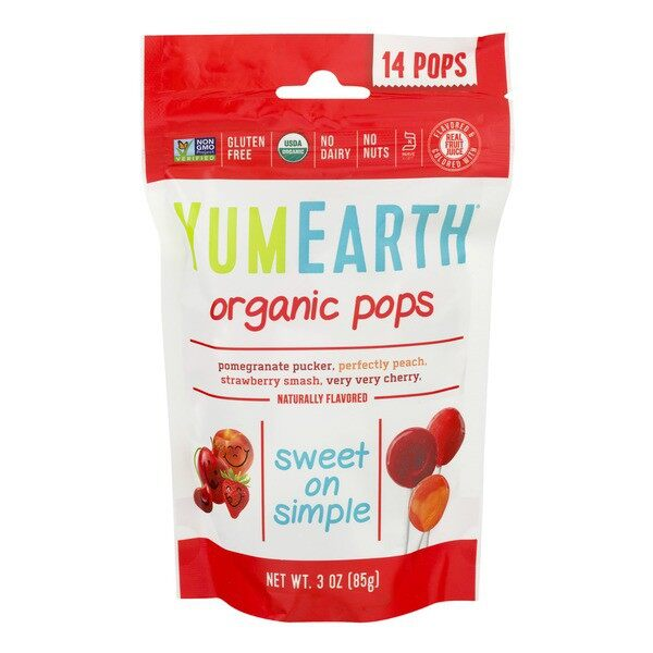 Yum Earth Organic Pops Naturally Flavored 14 Pops 3 Oz