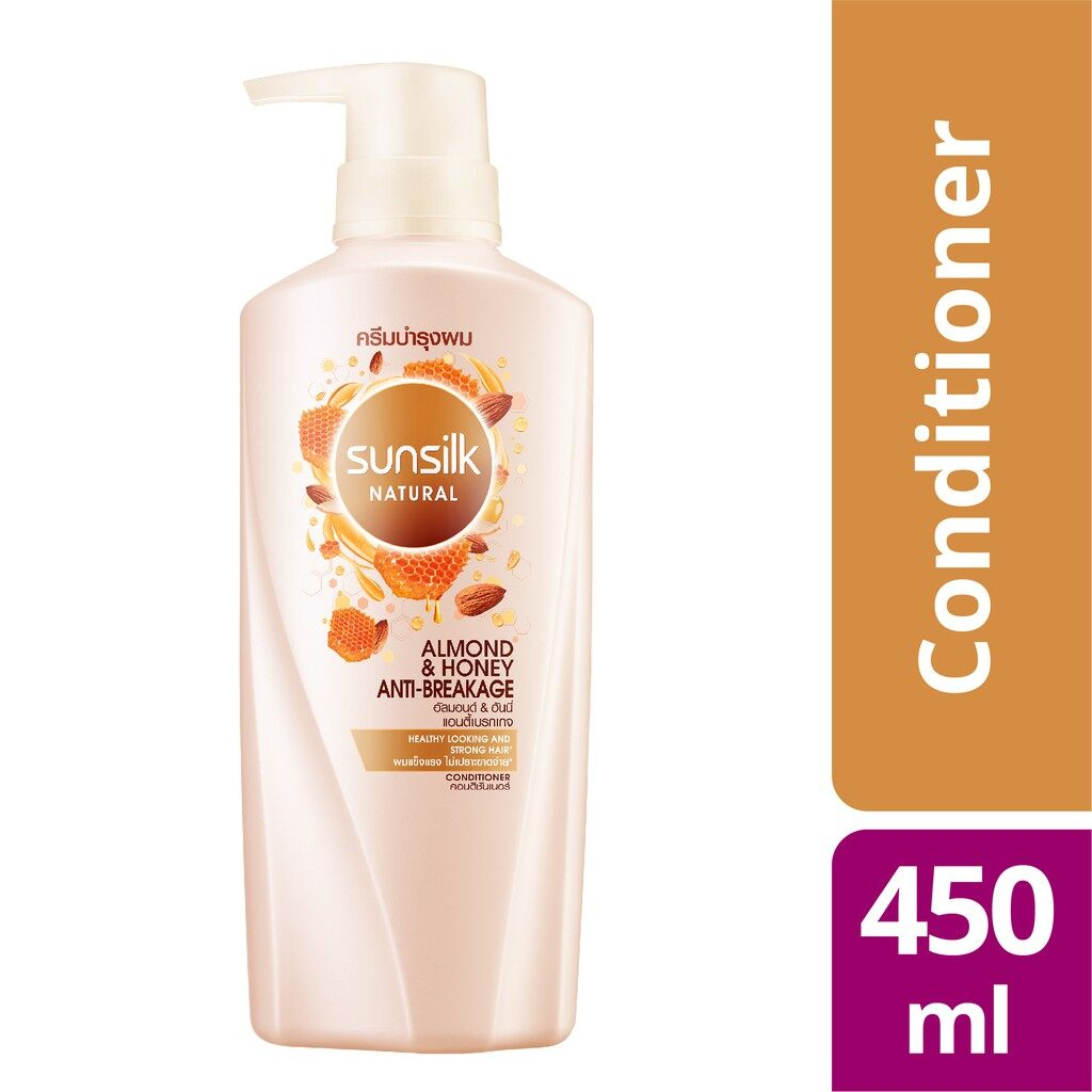 SUNSILK Natural Conditioner 450ml - Almond & Honey Anti Breakage