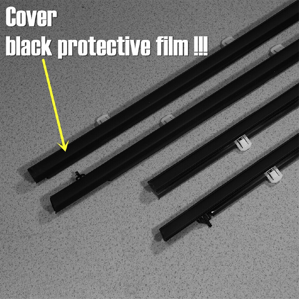 Automotive Tools & Equipment - Black And Chrome Car Window Weatherstrip Window Moulding Trim For Acura TSX 2009 2010 2011 2012 - Car Replacement Parts