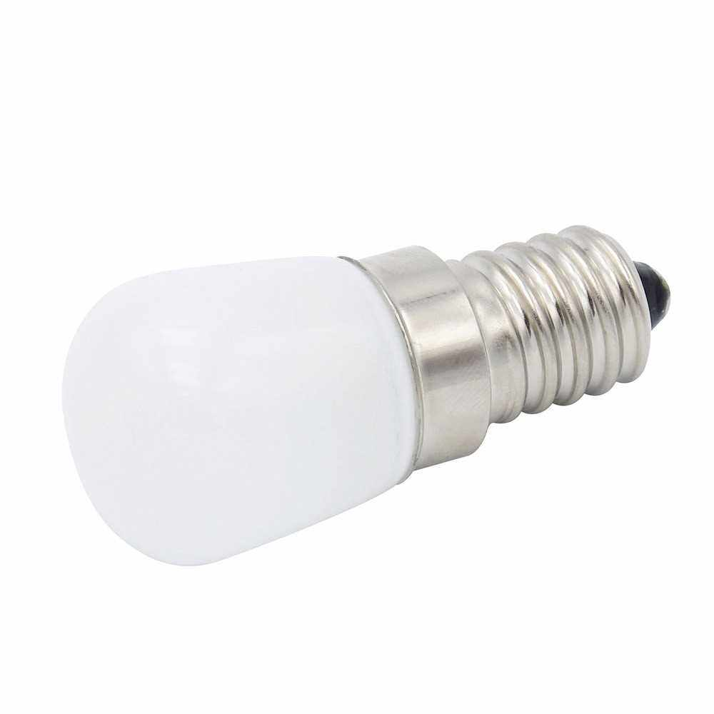 E14 Mini LED Light Bulb 1.5W SES Fridge Freezer LED SMD Lamp Spotlight Bulbs Chandeliers Lighting AC220V (White) (White)