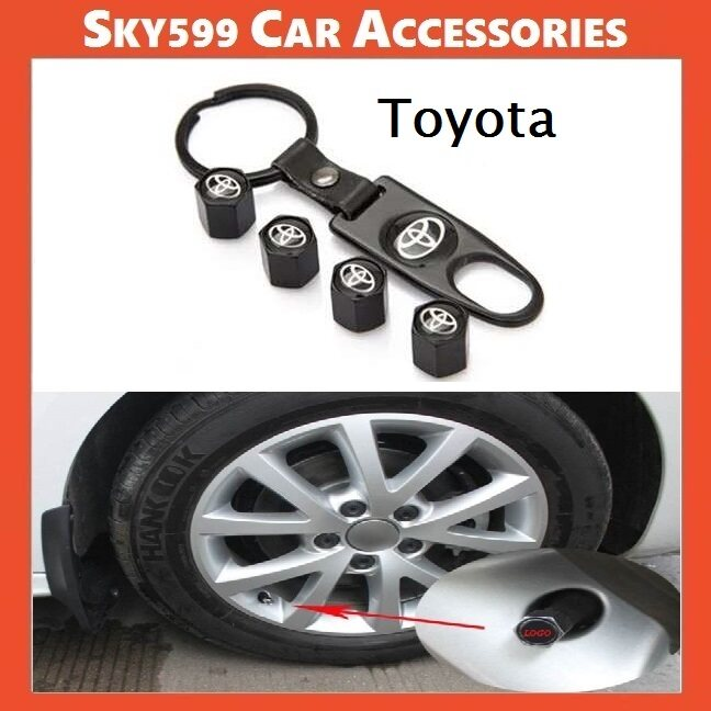 Styling Toyota Car Wheel Tire Tyre Valve Stem Air Caps Car Cover 4Pcs【Set】