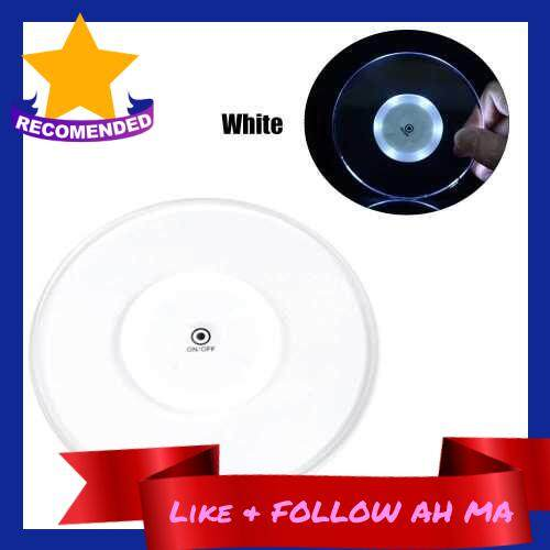 Best Selling Acrylic Ultra-thin Led Coaster Round Shape Luminous Coaster Cup Mat Cocktail Beverage Coasters Home Party Club Bar Supply (White)