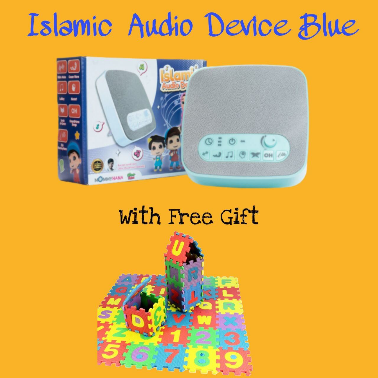 (READY STOCK) ISLAMIC AUDIO DEVICE MOMMYHANA X OMAR HANA (BLUE) (5)