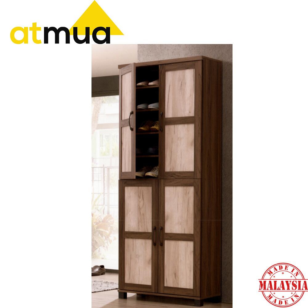 Atmua Jane Shoe Cabinet 3 Door Modern Shoe Cabinet with Soft Close Door 5 Tier Rack Can Storage 25 Pairs of Shoes