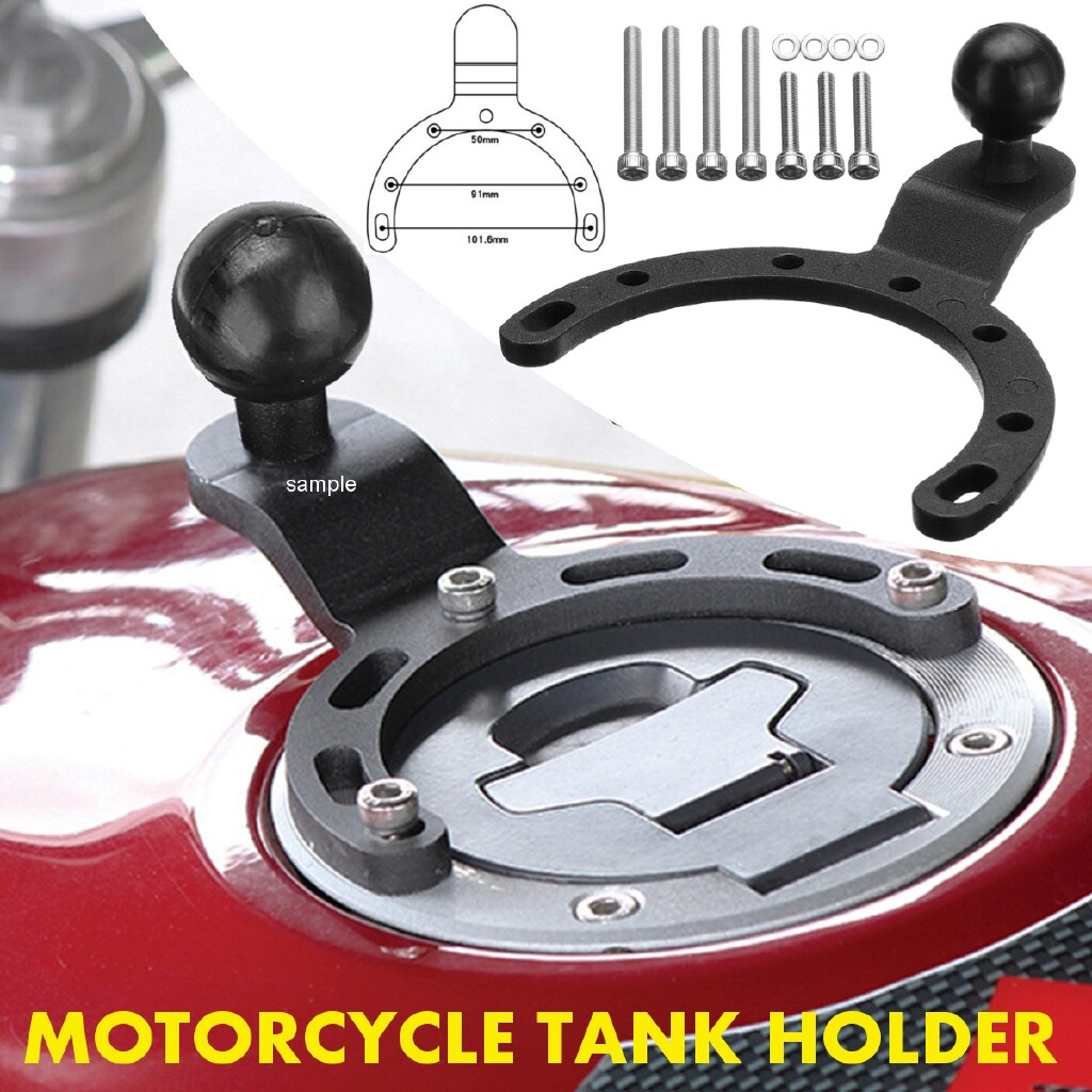 Organizers - Motorcycle Gas Tank Cap Mount Adjustable GPS Phone Bracket Holder For Harley BMW - Car Accessories