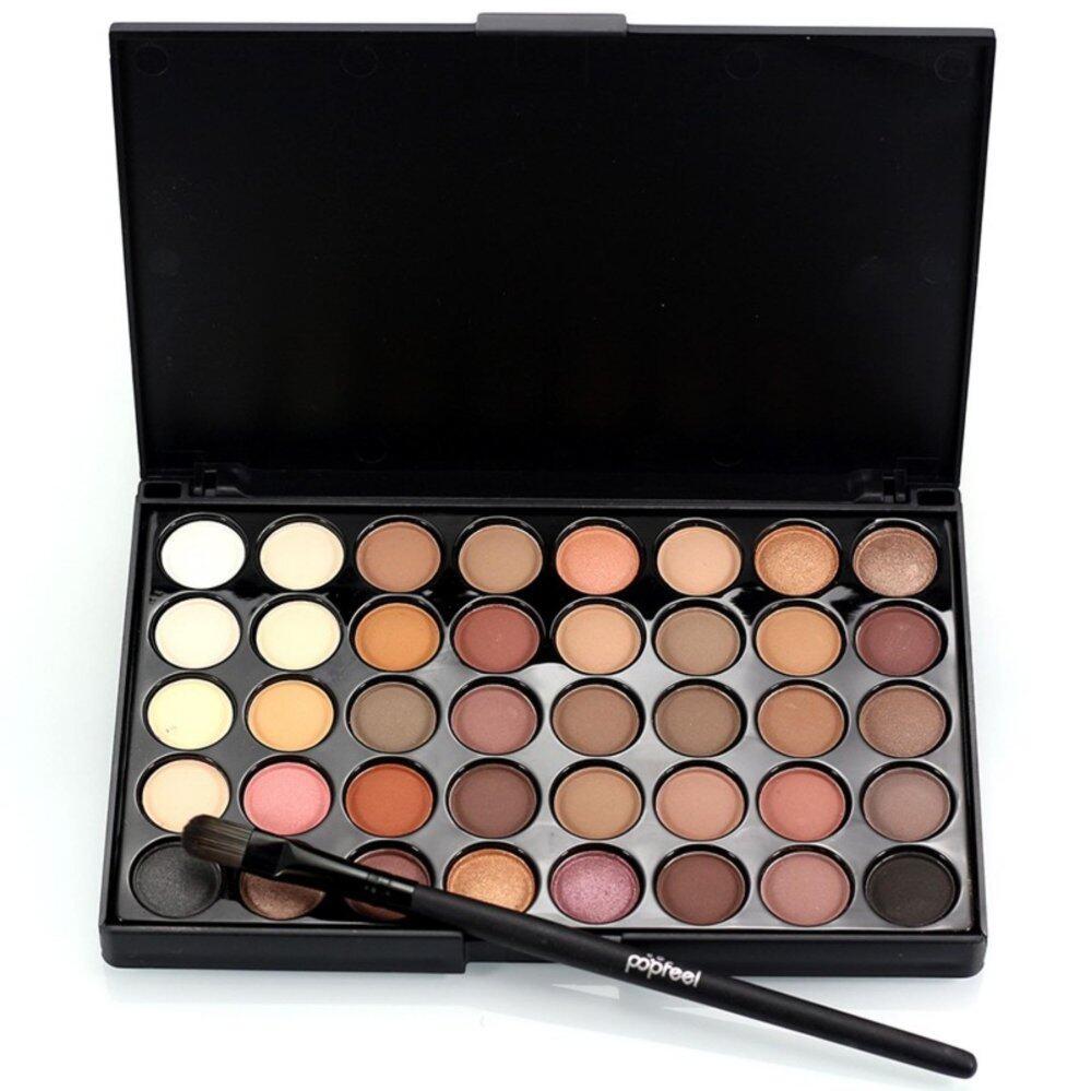 40 Colors Pop Feel Matte Luminous Palette Cosmetic Eye Shadow Colorful Smoky Eyeshadow Glitter Palette Nude