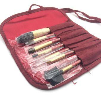 Animal hair professional makeup brush 7 piece makeup brush portable makeup brush set a full beginner's