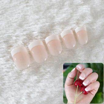 Harga Beauty Round Short natural nail tips salon full cover false frenchnail art tips fake acrylic nails art makeup manicure