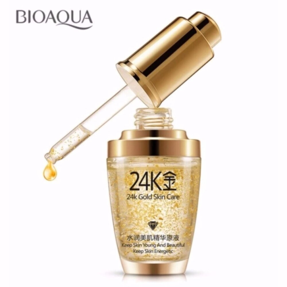 (BUY 1 FREE 1) [100% Original] BIOAQUA 24K Gold Anti Ageing Wrinkle Face Whitening Serum