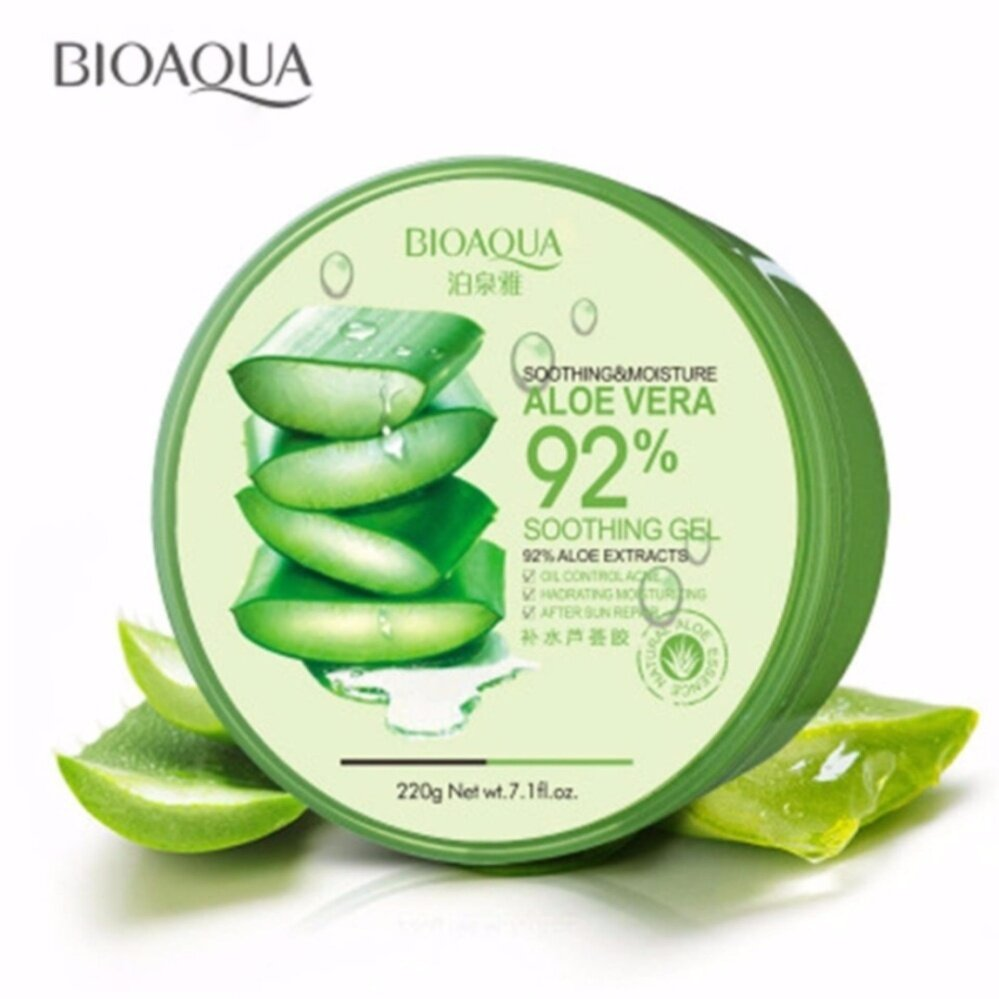 BIOAQUA Aloe Vera Soothing Moisture Gel 92% For Hydrating Acne Spot Removing