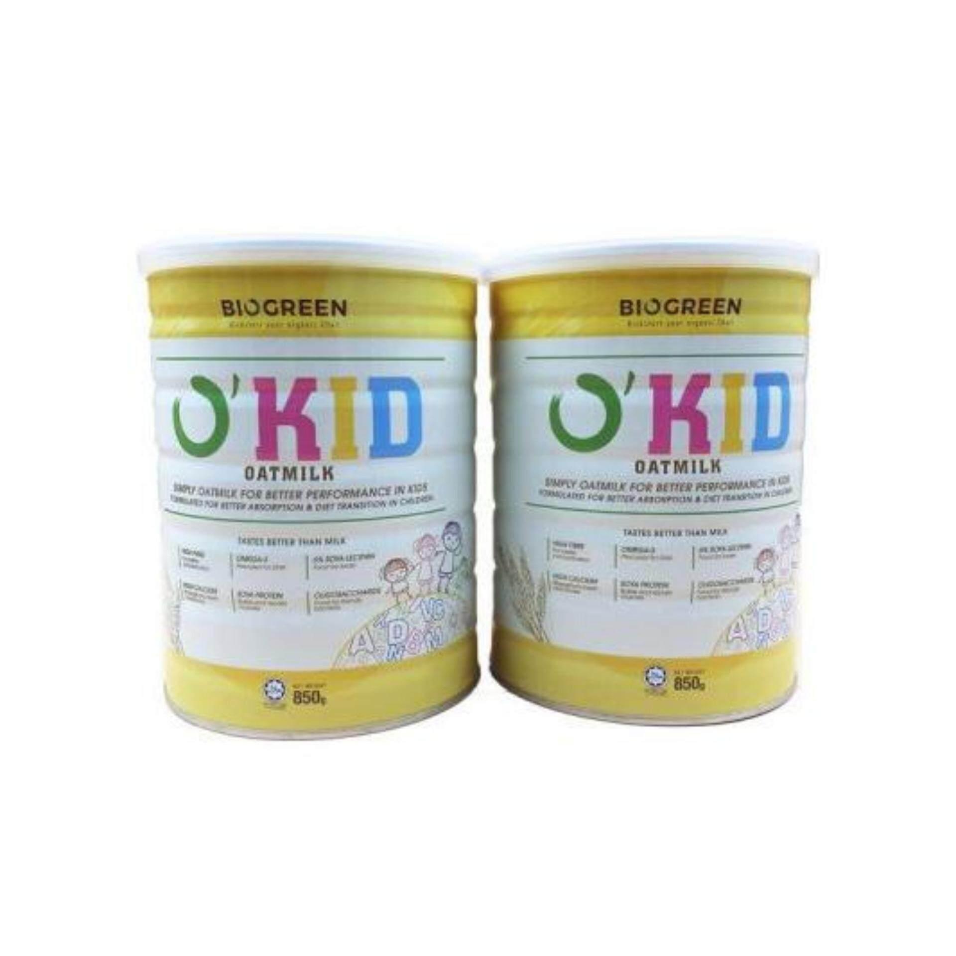 Biogreen OKid Oatmilk - 850G X 2 (TWIN PACK)- Okid Oat Milk- New Packaging