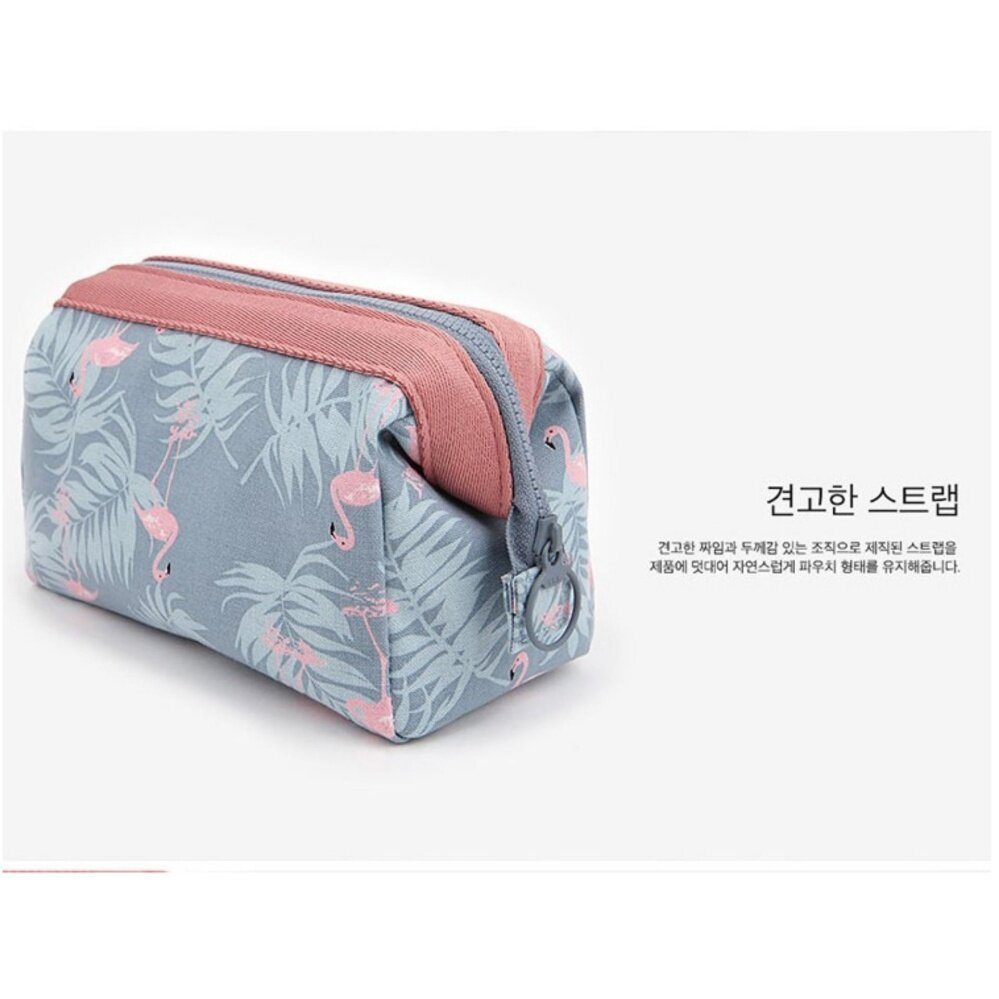 Bolster Store Flamingo Korean Women Travel Small Makeup Cosmetic Pouch Bag Cute Toiletries Bag