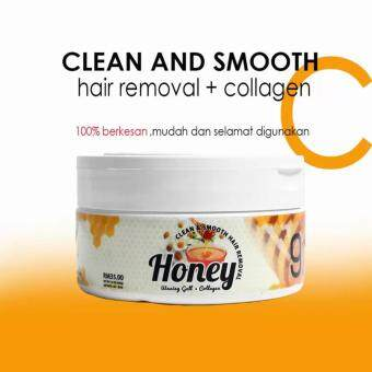 Clean And Smooth Honey Waxing Gel Hair Removal with Collagen AndVitamin C by Aura jelita