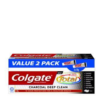 Harga COLGATE Charcoal Deep Clean Toothpaste 2x150g 2X150G