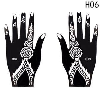Cek Harga Fancyqube India Henna Temporary Tattoo Stencils Kit Hand