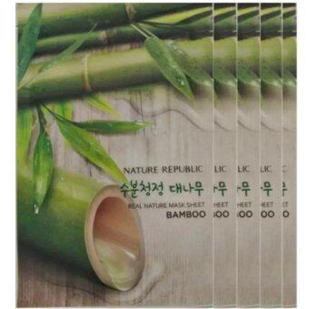 Harga 5 Pcs Nature Republic Real Nature Mask Sheet Facial Mask - Bamboo