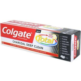 Harga Colgate Toothpaste Total Charcoal Deep Clean 150g