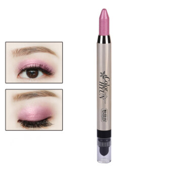 Harga Cream Eyeliner Eye shadow Pencil Lying Silkworm Big Smokey Eyes Shimmer Makeup Glitter Eye Liner Pen (Pink)