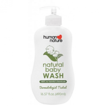 Harga Human Nature Natural Baby Wash 490ml