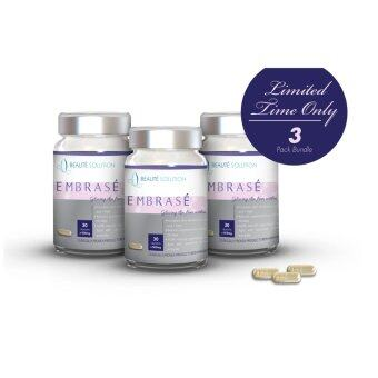 Harga Embrase Whitening Supplement - 100% Natural Premium French Antioxidant Formulation - 30s x 3